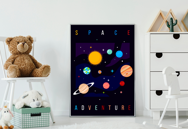 Galactic space Explorer poster